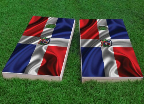 Dominican Flag Cornhole Game (Set of 2) by Custom Cornhole Boards
