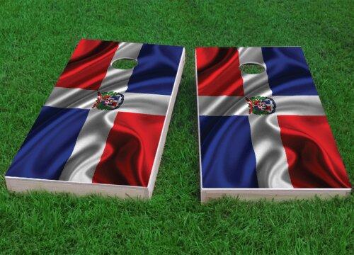 Dominican Flag Cornhole Game (Set of 2) by Custom Cornhole Boards