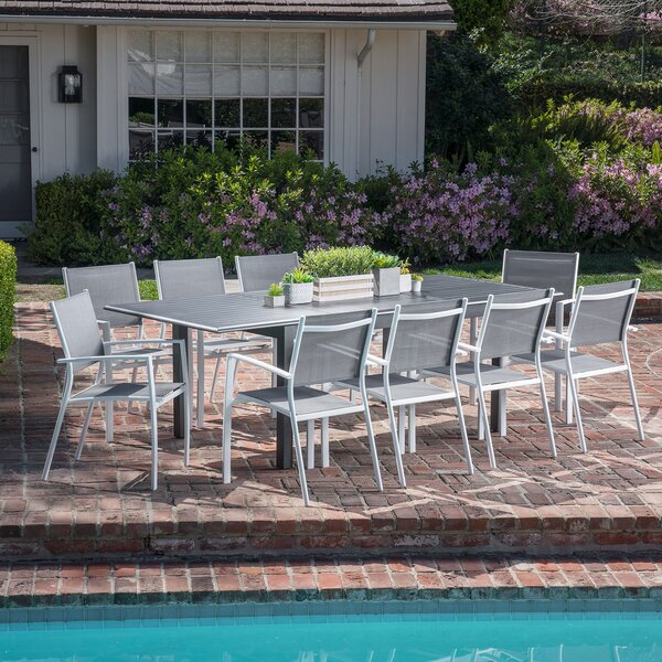 Aloysius 11 Piece Patio Dining Set by Latitude Run