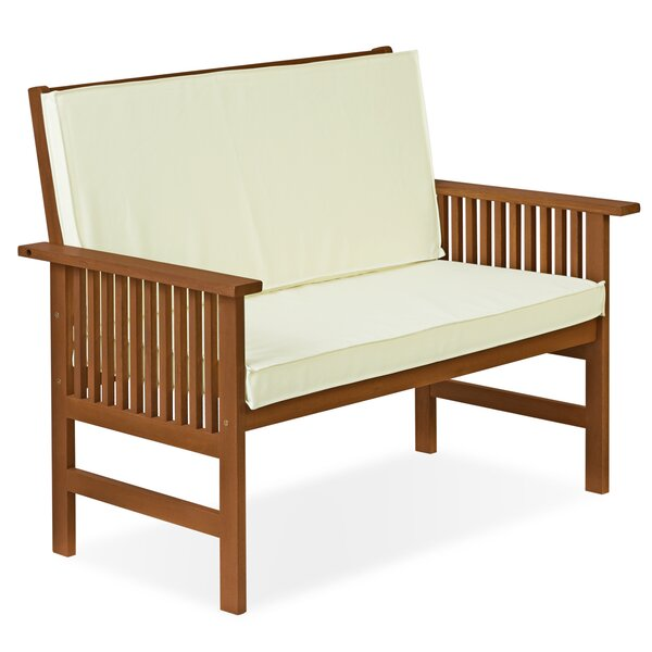 Arianna Outdoor Wood Garden Bench by Langley Street