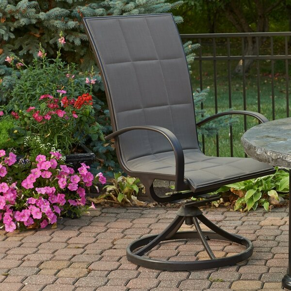 Laforest Swivel Patio Dining Chair with Cushion (Set of 2) by Bayou Breeze