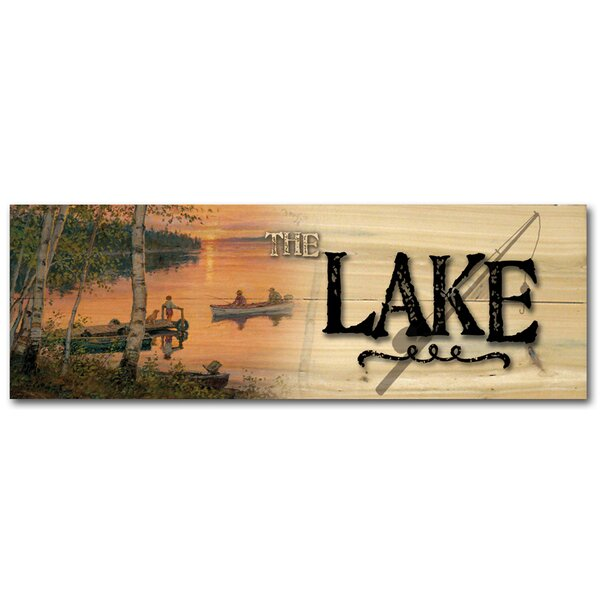 The Lake Lakeland Sunset Graphic Art Plaque by WGI-GALLERY