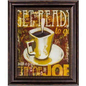 'Cup of Joe' Framed Textual Art on Canvas by Winston Porter
