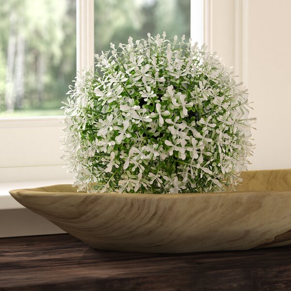 Frosted Round Boxwood Topiary by Ophelia & Co.