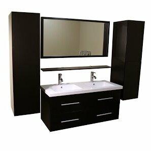 LaJuante 48 Double Bathroom Vanity Set with Mirror