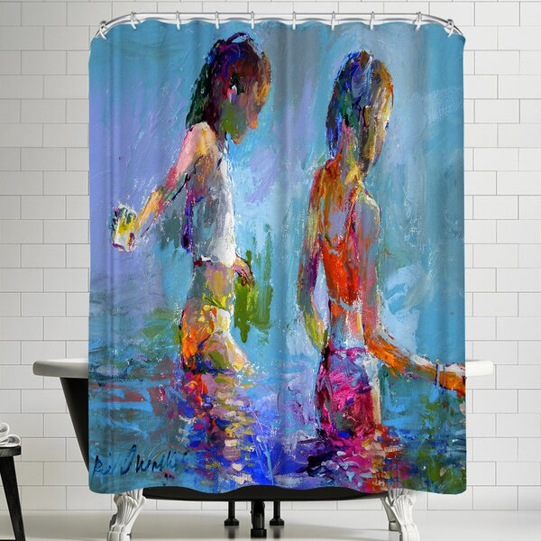 Richard Wallich Catching Minnows Shower Curtain by East Urban Home