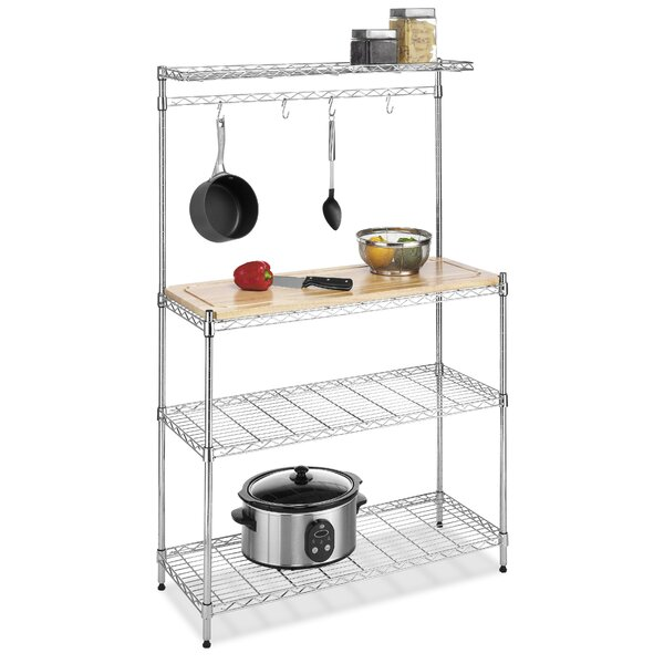 Bakers Rack in Chrome by Whitmor, Inc