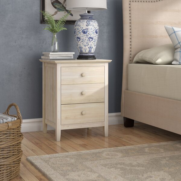 Sommerville 3 Drawer Nightstand by Alcott Hill