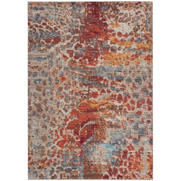 Abdoulaye Brown/Blue Area Rug by World Menagerie