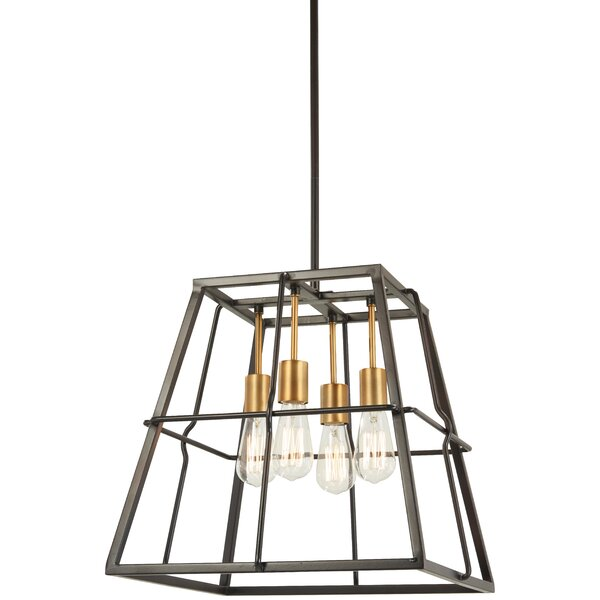 Croyle 4-Light Candle Style Geometric Chandelier By Williston Forge
