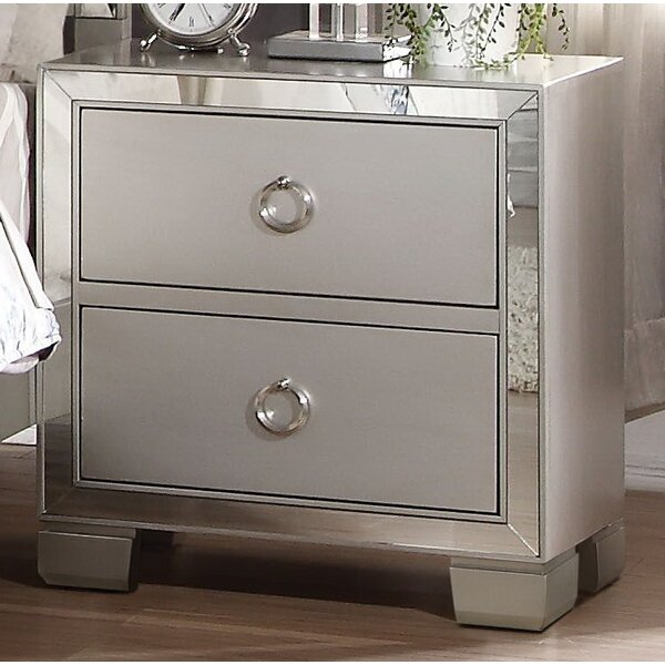 Lancelot 2 Drawer Nightstand by House of Hampton