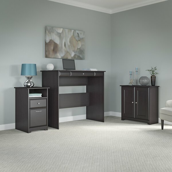 Hillsdale Standing Desk with Storage Cabinet and 2 Drawer Pedestal by Red Barrel Studio