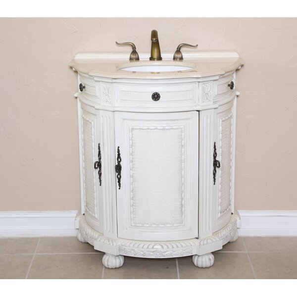 Josh 31 Single Demilune Bathroom Vanity Set by B&I Direct Imports