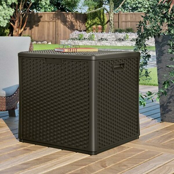 Outdoor Cube 60 Gallon Resin Plastic Deck Box by Suncast Suncast