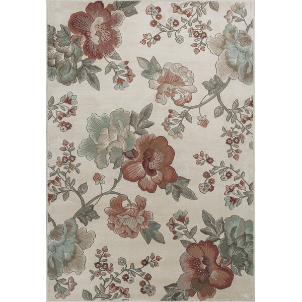 Laurentides Ivory Florea Area Rug by August Grove