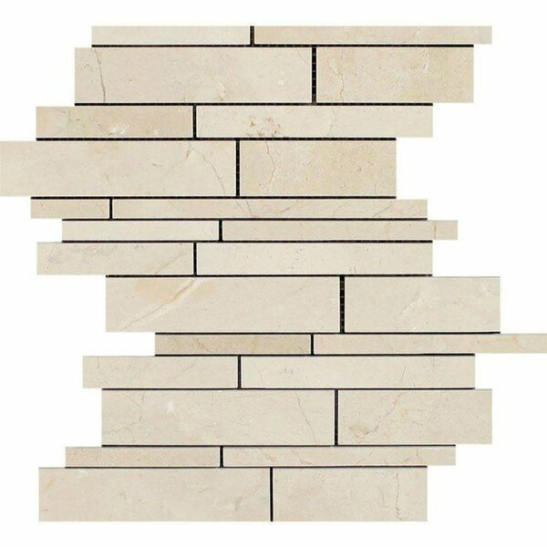 Linear Sized Marble Linear Mosaic Wall & Floor Tile