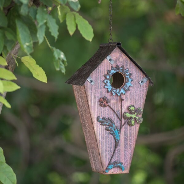 Flower 23 in x 8.5 in x 6 in Birdhouse by Sunjoy
