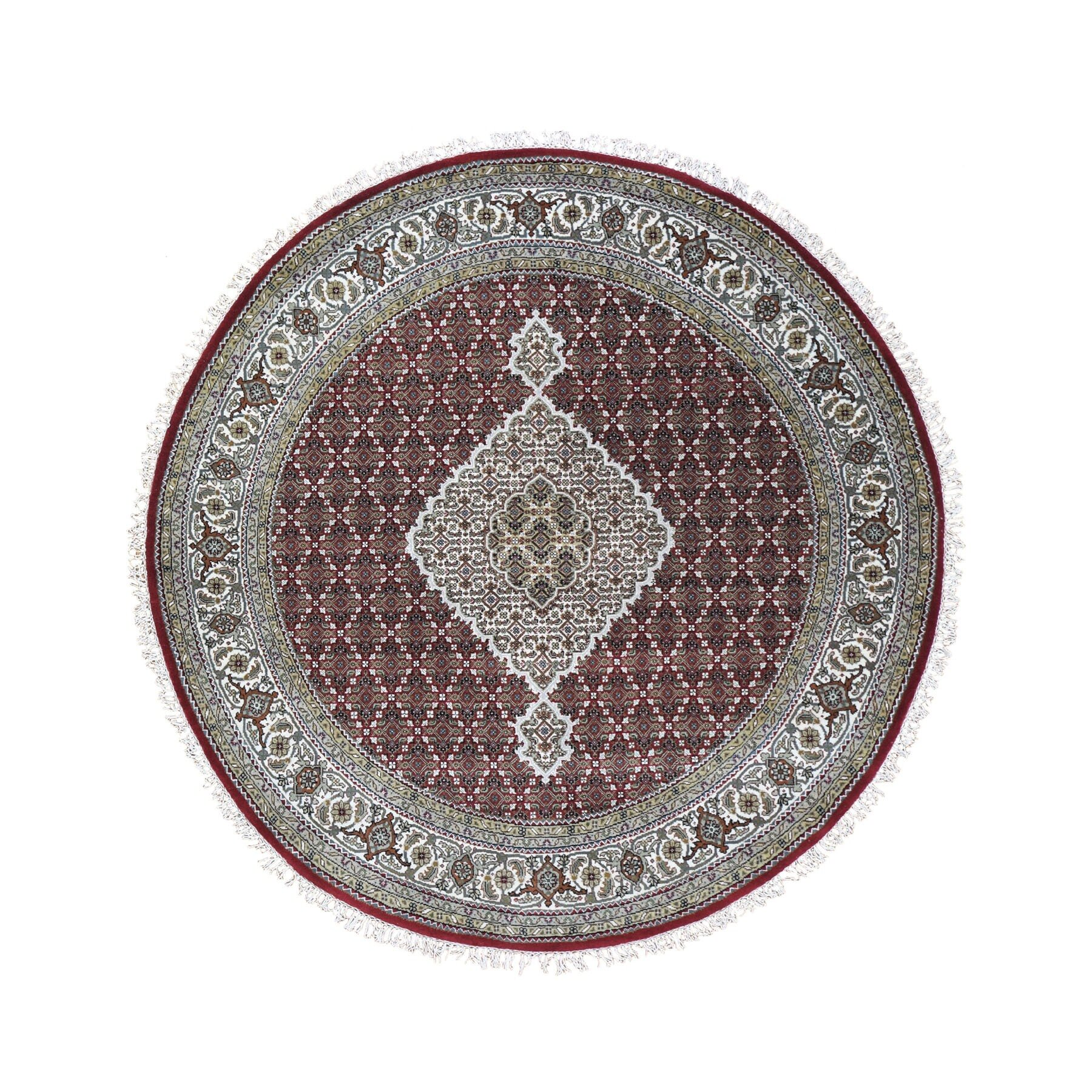 Picture of: 1800getarug One Of A Kind Hand Knotted Brown Gray 6 8 Round Area Rug Wayfair