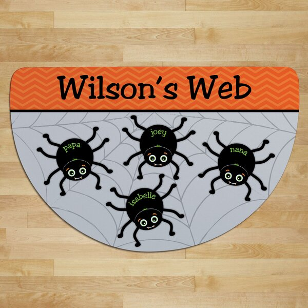 Almon Spider Web Personalized Four Names Doormat by The Holiday Aisle