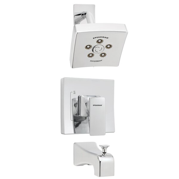 The Edge Pressure Balance Tub and Shower Faucet by Speakman