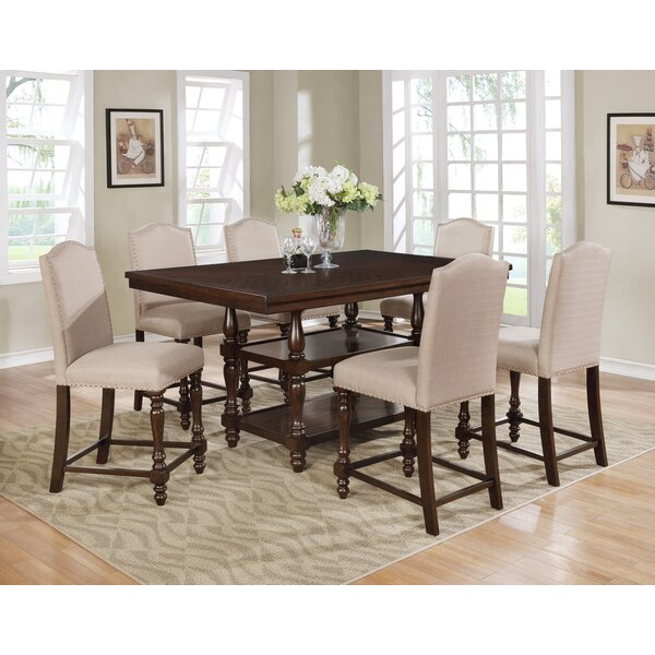 Heady Counter Height Dining Table by Charlton Home