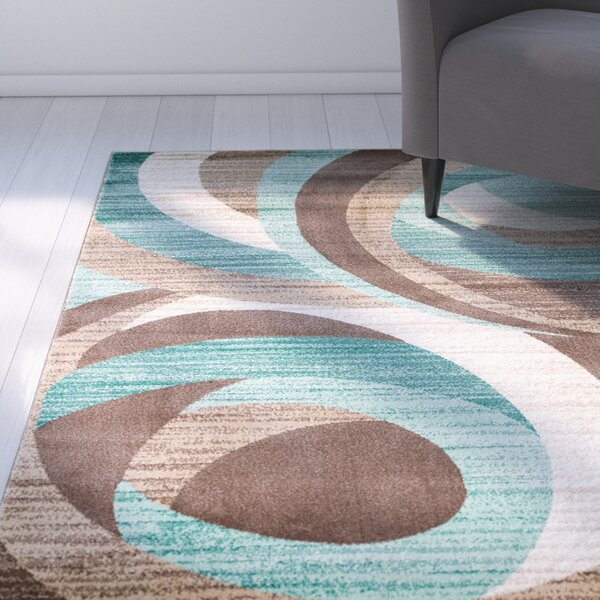 Rick Teal Area Rug by Zipcode Design