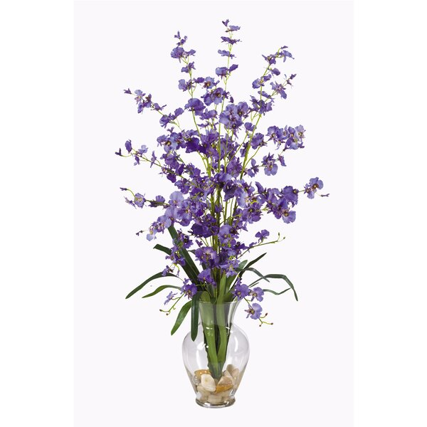 Dancing Lady Liquid Illusion Silk Orchid Flowers in Purple by Nearly Natural