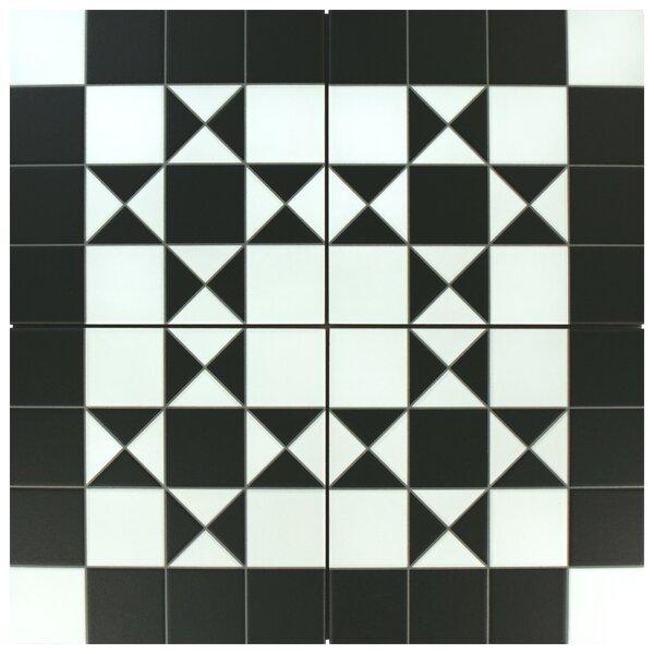 Chelsea Bristol 9.75 x 9.75 Porcelain Field Tile in Black by EliteTile