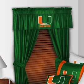 NCAA 88 Miami Hurricanes Curtain Valance by Sports Coverage Inc.
