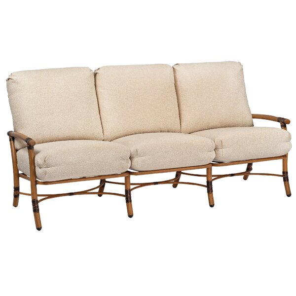 Glade Isle Patio Sofa with Cushions by Woodard
