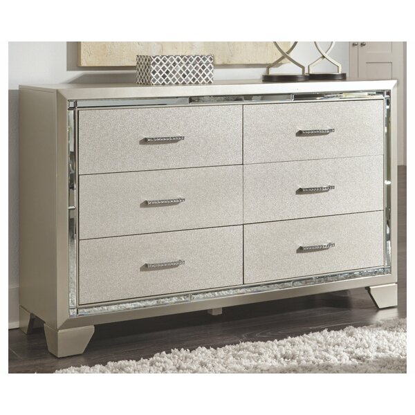 Bastian 6 Drawer Double Dresser by House of Hampton