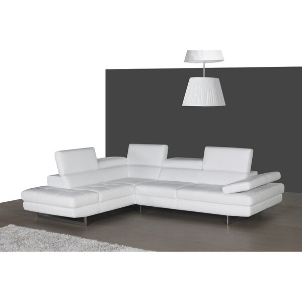 Summers Leather Sectional by Wade Logan