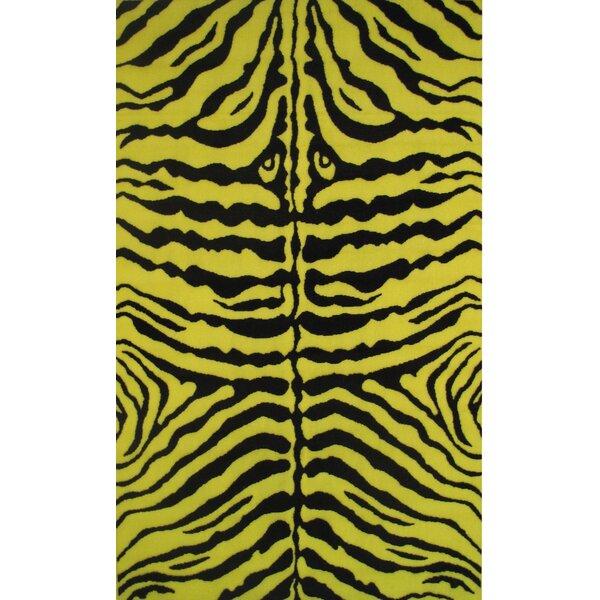 Fun Time Yellow Zebra Skin Area Rug by Fun Rugs