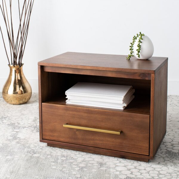 Grogan 1 Drawer Nightstand by George Oliver