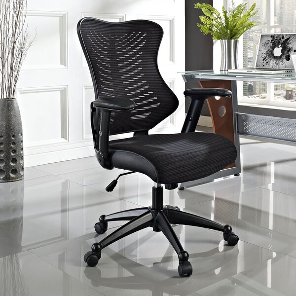 Hibbler Clutch High-Back Mesh Desk Chair by Symple