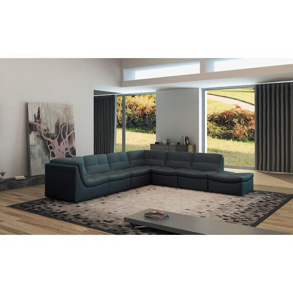 Weisman Right Hand Facing Modular Sectional with Ottoman by Brayden Studio