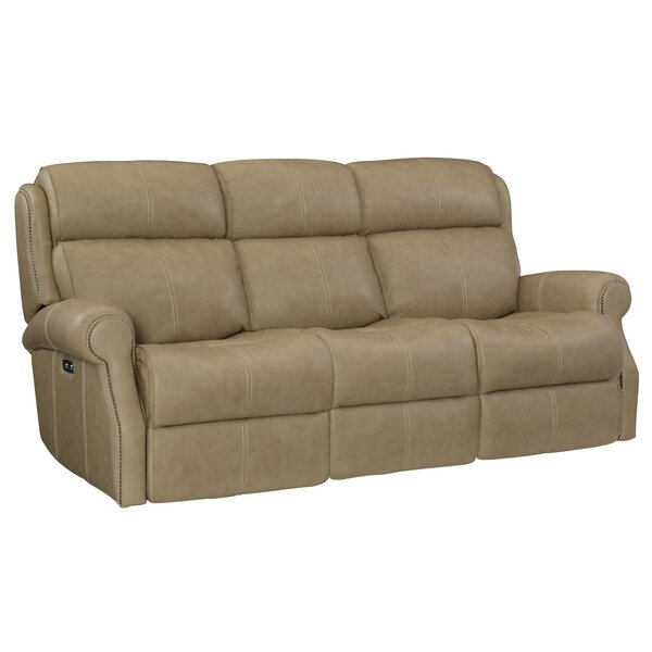 Mcgwire Leather Reclining Sofa By Bernhardt