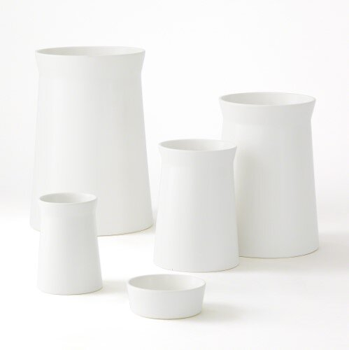Soft Curve Ceramic Vase by Corrigan Studio