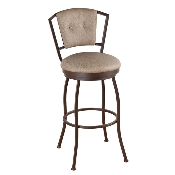 Leia 30 Swivel Bar Stool by Alcott Hill