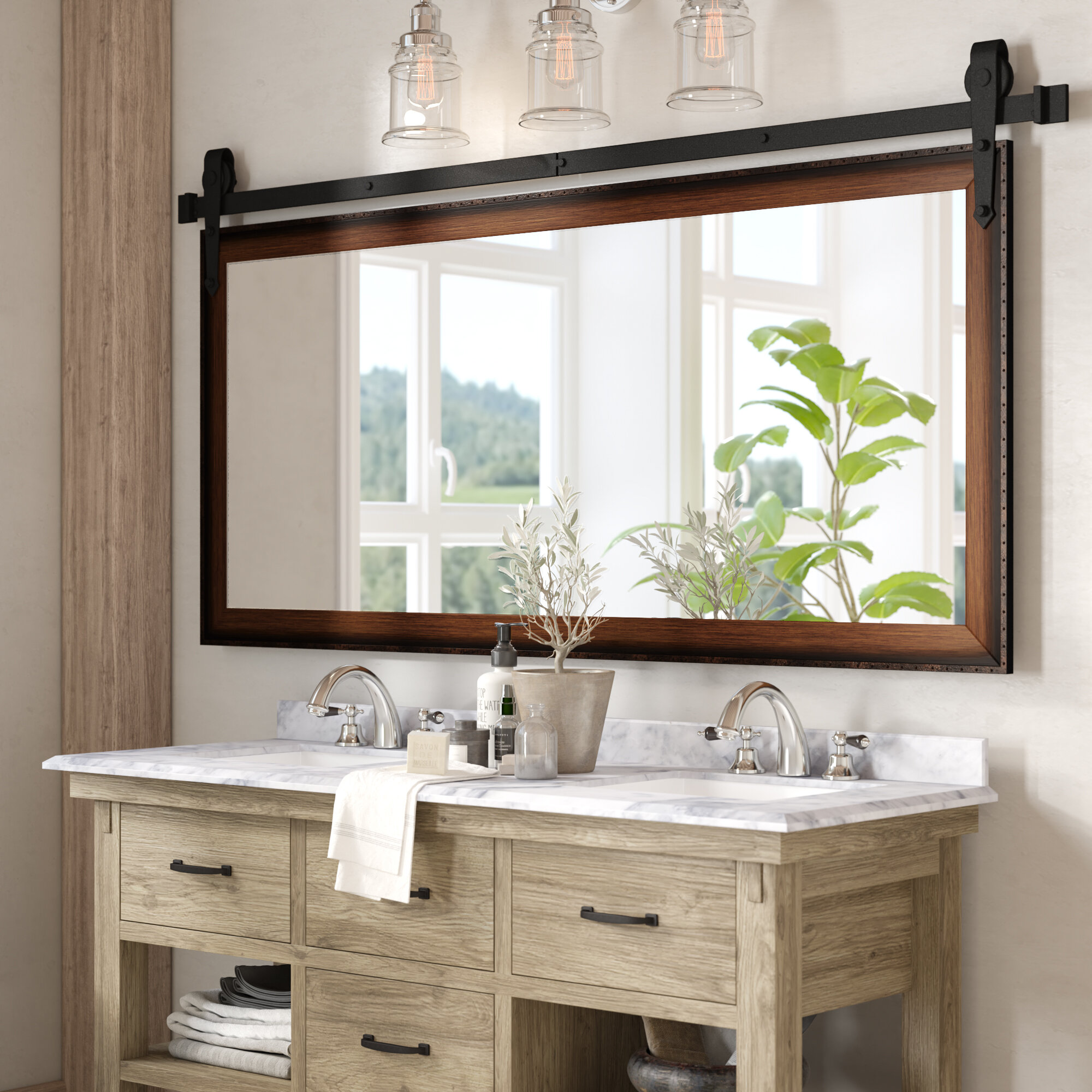 Large Oversized Laurel Foundry Modern Farmhouse Vanity Mirrors You Ll Love In 2021 Wayfair