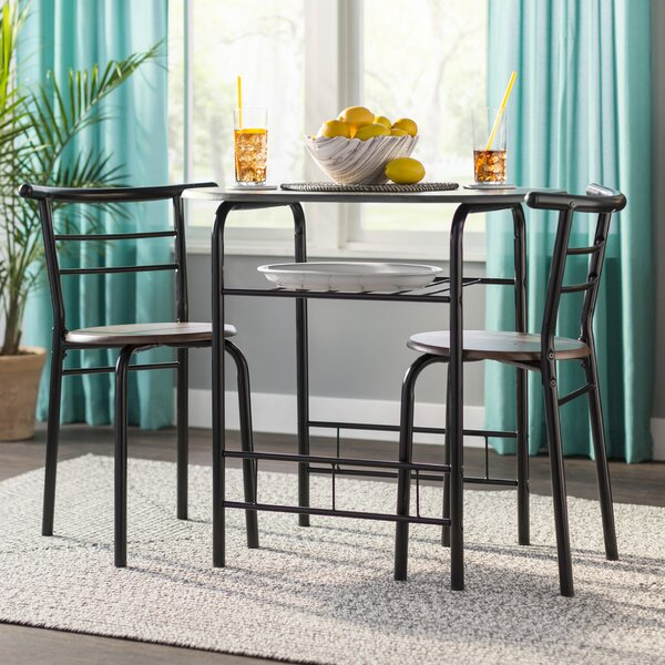 #1 Volmer 3 Piece Compact Dining Set By Zipcode Design Today Only Sale