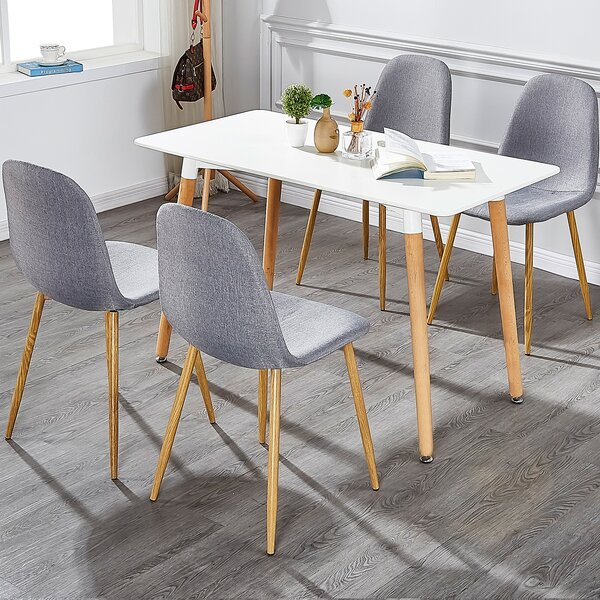 Fidela Upholstered Dining Chair (Set of 4) by Wrought Studio