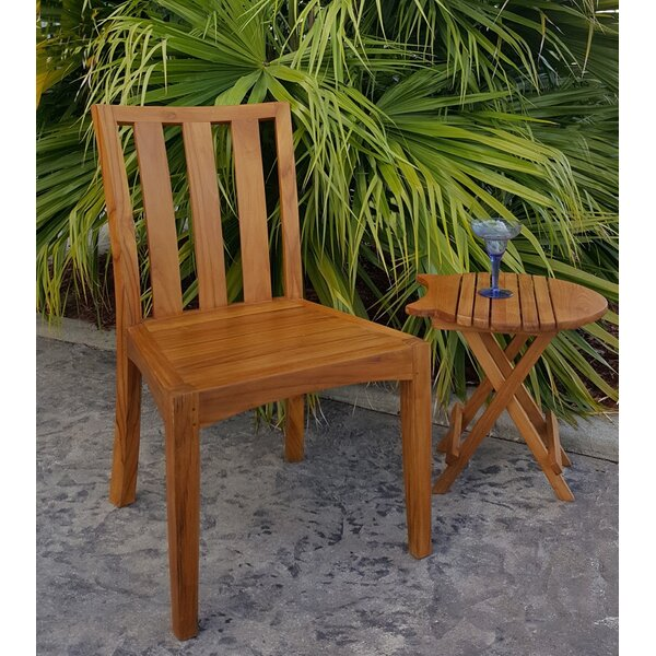 Ares Teak Patio Dining Side Chair by Darby Home Co Darby Home Co