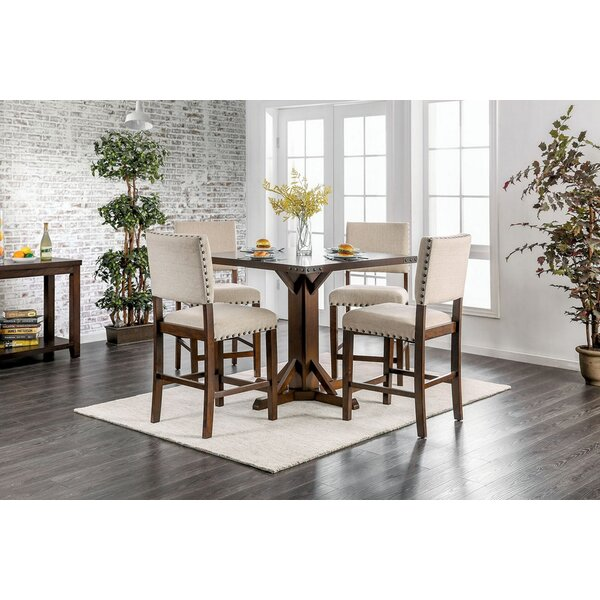 Cogan Counter HT Table With 4 Chairs By Gracie Oaks