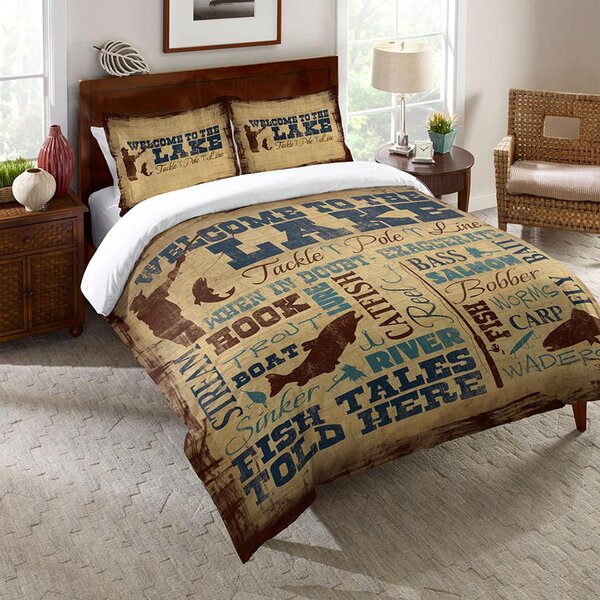 Potrero Welcome to the Lake Single Reversible Comforter