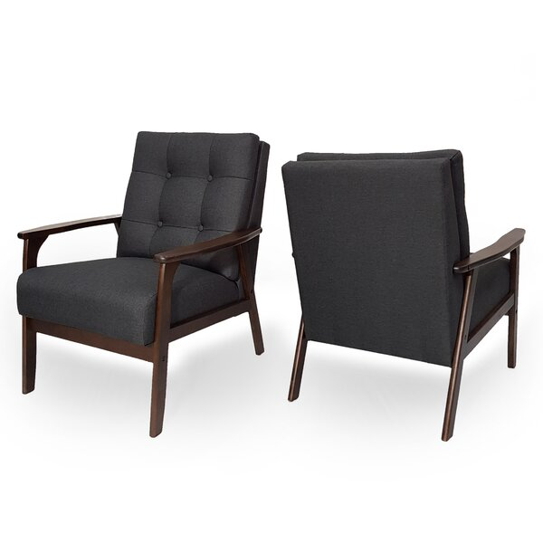 Bohannan Mid Century Tufted Accent Armchair (Set of 2) by Corrigan Studio