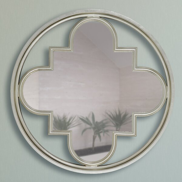 Circular Clover Square Wall Mirror by Majestic Mirror