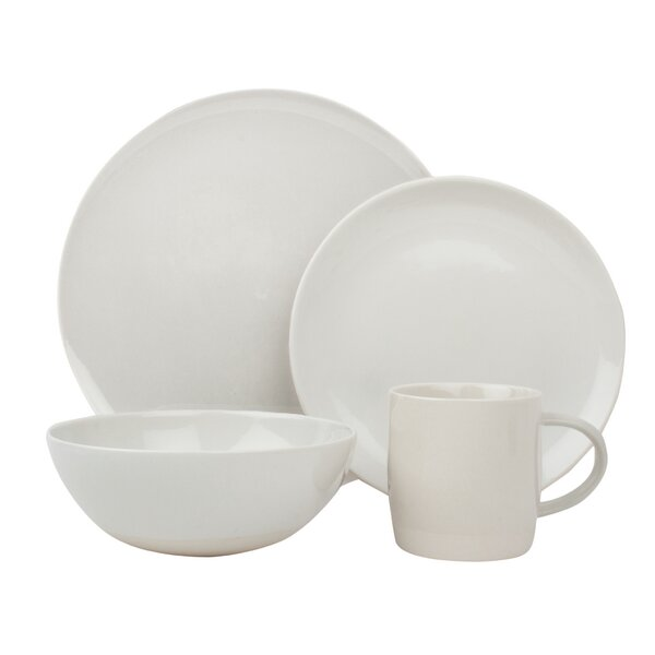 Shell Bisque 4 Piece Place Setting, Service for 1 by Canvas Home
