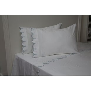 Shop Claudie Embroidered 300 Thread Count 100% Cotton Sheet Set By One Allium Way