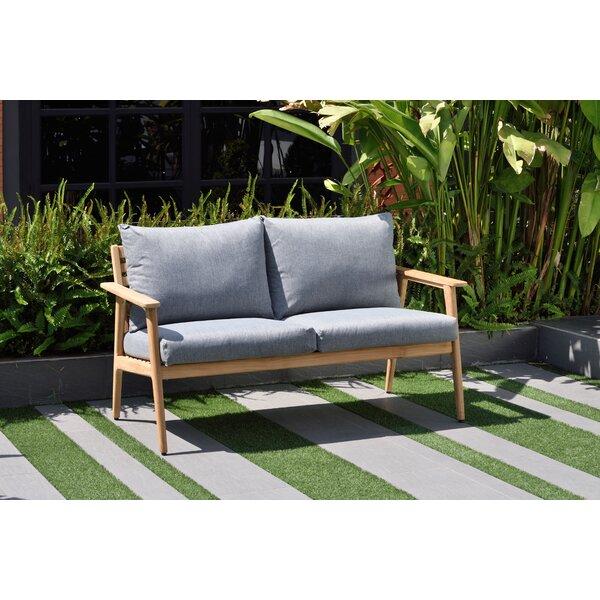 Darrah Deep Seating Teak Patio Sofa with Cushions by Brayden Studio Brayden Studio